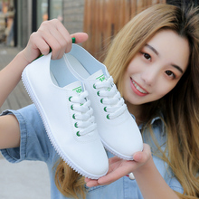 white shoes female summer 2018 new wild shoes Korean students flat shoes casual sports shoes single shoes spring and autumn