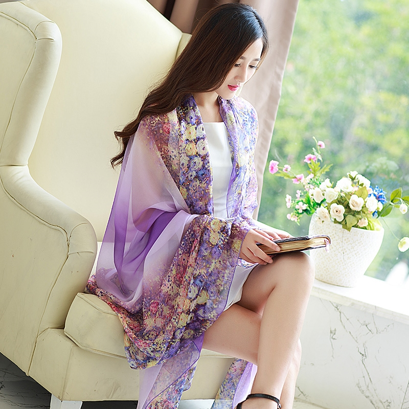 Changeable shawls, scarves, scarves, clothes, multi-function female summer, long sun jacket, short sleeveless chiffon shirt tide