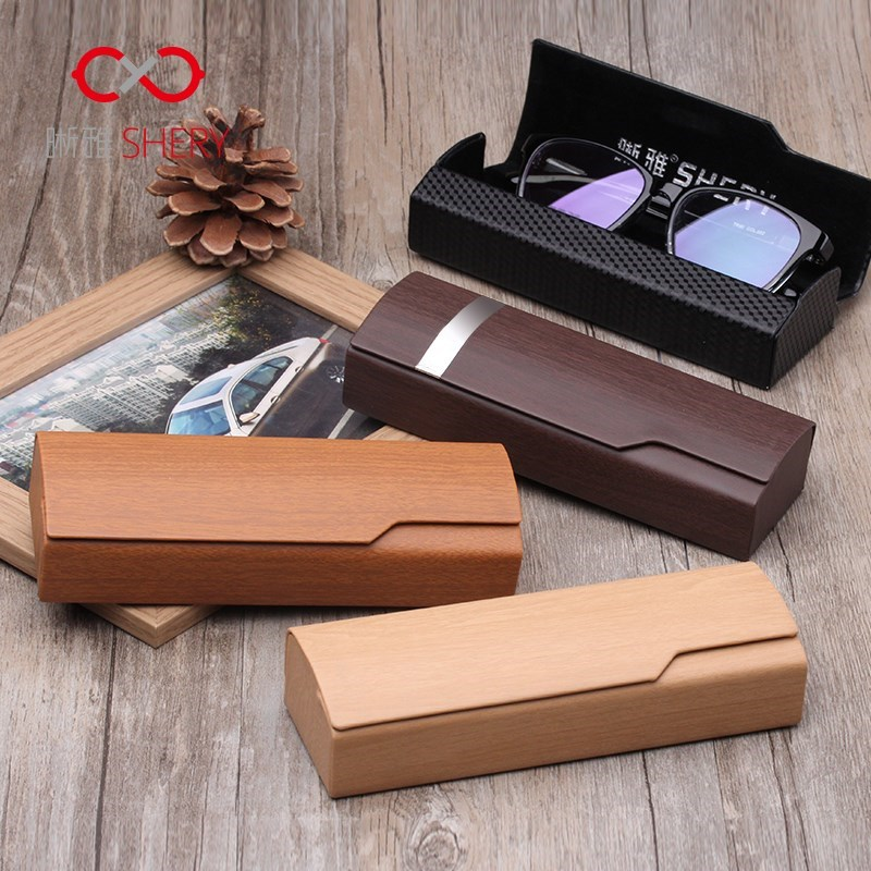 The wooden box by South Korean students high-end glasses are creative myopia mirror box simple retro glasses accessories for men and women