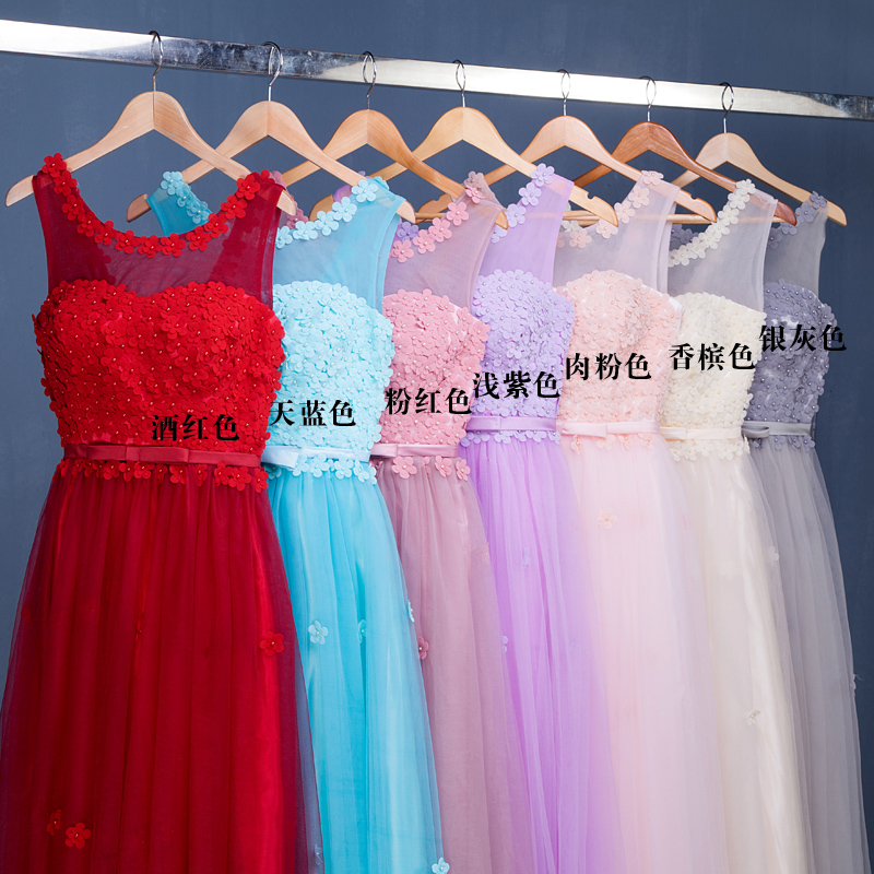 Toast suit the new 2015 autumn bridesmaid dresses the bride married long dresses a word shoulder cultivate one's morality fashion shoulder big yards