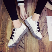 Women in the spring of 2017 new students. A all-match winter white shoe Velcro shoes sports shoes