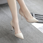 A new spring 33 yards high heels shoes shoes wedding shoes with fine white Bridesmaid bride cat heels shoes