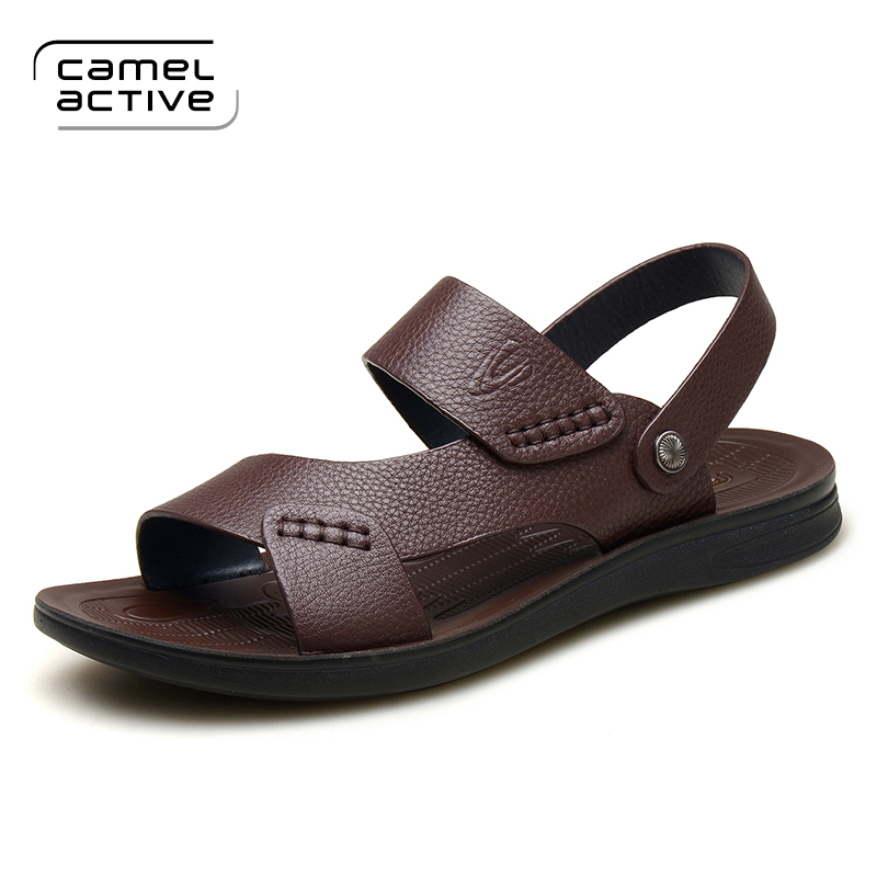 German camel dynamic summer sandals male leather men sandals slippers men sandals recreational skin cool man