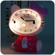 Lovely children's cartoon talking student bedroom Bedside Alarm Clock mini luminous mute and creative personality