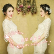 194 pregnant women clothing rental studio photography pictures photo beautiful white lace skirt fashion photo photo Xian