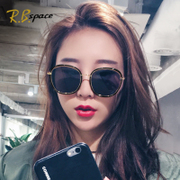 2017 new network star sunglasses sunglasses red tide big long face polarizing glasses fashion personality eyes