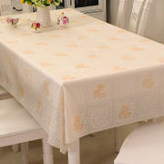 PVC waterproof disposable plastic tablecloth garden table cloth soft cloth glass cloth oil proof mat table mats
