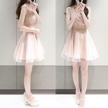 12 Korean Girl Skirt Dress 13 junior high school students aged 14 15 16 17 Chiffon girl summer dress