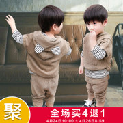 The boy spring set 2017 new 1 Korean children in the spring of 2 children 3 years old baby clothes tide Xia 4-5 three piece