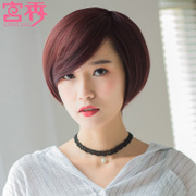 Female hair wig wig fashion handsome natural oblique bangs Bobo head VS Korea short hair