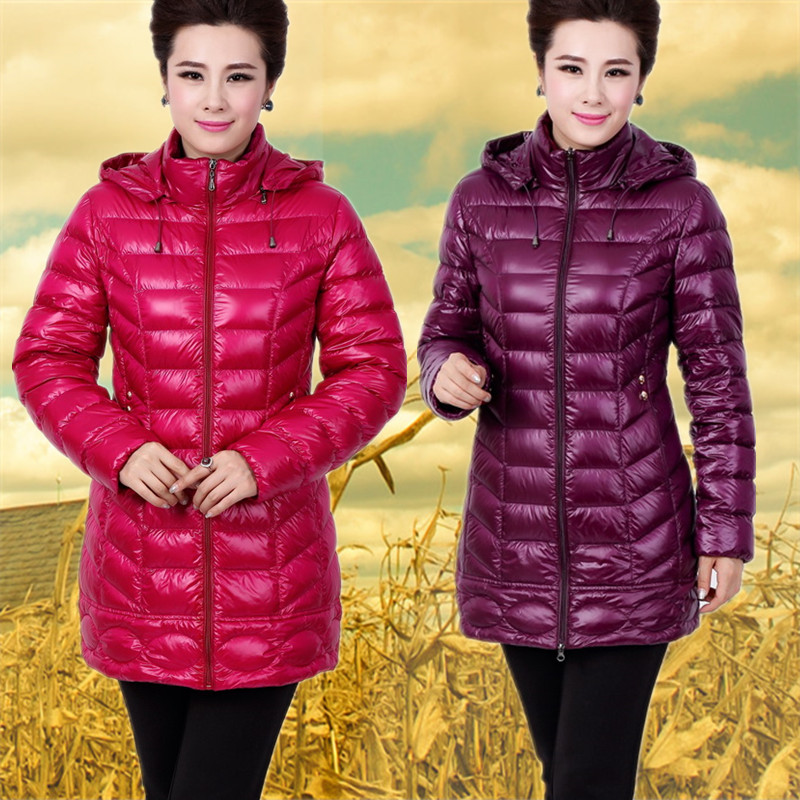 New ultra thin coats of 2015 autumn winters female in middle-aged and old mother pack loose coat big yards long cultivate one's morality
