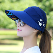 Female leisure travel summer hat all-match UV Korean folding summer sun cap visor