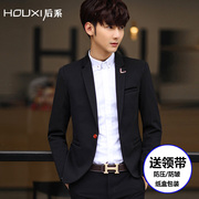 After the men's suit 2017 new style of the Korean New Year's pure white casual casual suit men's suit