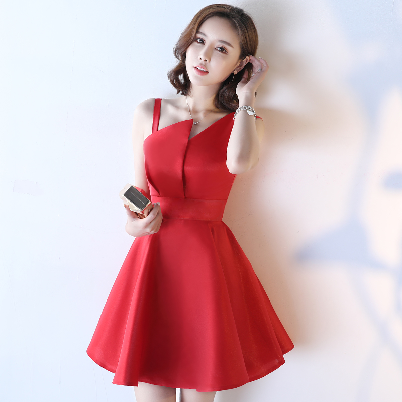 The new deep V dress sexy ladies wind Korean Short Slim small dress skirt W5L
