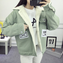 Student short winter coat fall winter womens spring of 2016 new wave Korean version of Joker loose School of spring and autumn wind