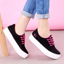 Spring 2017 low canvas shoes girls Korean cake heavy bottom with flat flat casual shoes sneakers