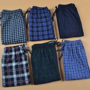 Gucci men in autumn and winter warm thin cashmere pajama pants trousers Home Furnishing Plaid fat XL