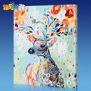 Jia Cai Tian Yan DIY digital painting room scenery flowers cartoon characters coloring hand-painted paint decorative painting