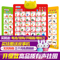 Cat Bell phonetic sound charts a full set of male and female literacy for children baby toys educational sound card audio chart