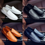 Spring peas Shoes Mens Korean leather casual shoes pedal 2017 new men's shoes all-match lazy tide