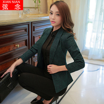String read little Blazer 2016 new MS suits long sleeve casual plus size womens clothes autumn Korean blouse