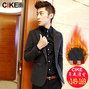 Cike2016 men's suit male Korean tide winter suit male Casual Jacket Suit youth thickening
