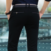 In the spring of men's business casual pants slim pants pants pants feet British Korean male male black trousers tide
