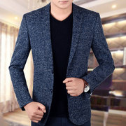 2017, the new spring handsome middle-aged men's business casual small suit, men's Korean style suit jacket coat