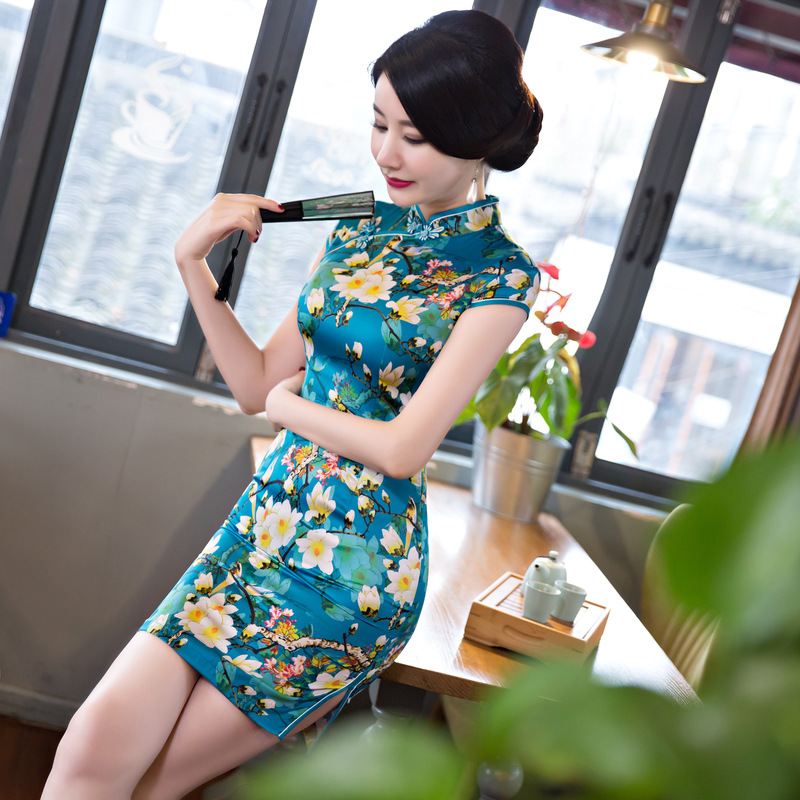 The new 2017 cheongsam Brief paragraph cheongsam