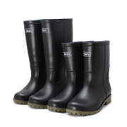 Genuine warrior Boots Men barreled boots top water shoes black boots and waterproof antiskid overshoes labor