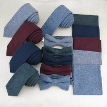 Korean business men supporting solid color tie tie pocket towel five colors are high-grade cotton gentleman