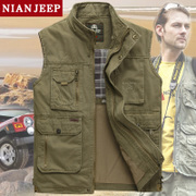 The classic NIAN JEEP men's Vest Jacket spring director leisure fishing vest male photography vest