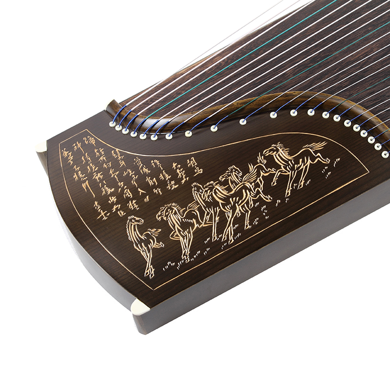 Dongsheng factory direct national professional performance grading 10 color series lettering nanmu guzheng