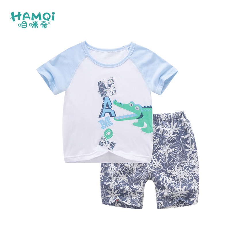 Hami odd baby baby cotton short sleeved suit summer T-shirt shorts sport suit 3726203 children