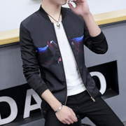 A new spring coat thin jacket slim male Korean Metrosexual students casual baseball uniform youth gown