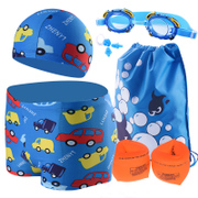 The boy swimming suit children swimsuit goggles boxer split swimsuit baby baby baby swimming trunks