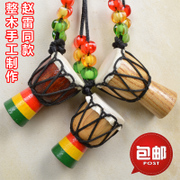 Lijiang tourism 1.5 inch African Drum Djembe Necklace Gift Necklace Pendant Zhao whole wood similar paragraph