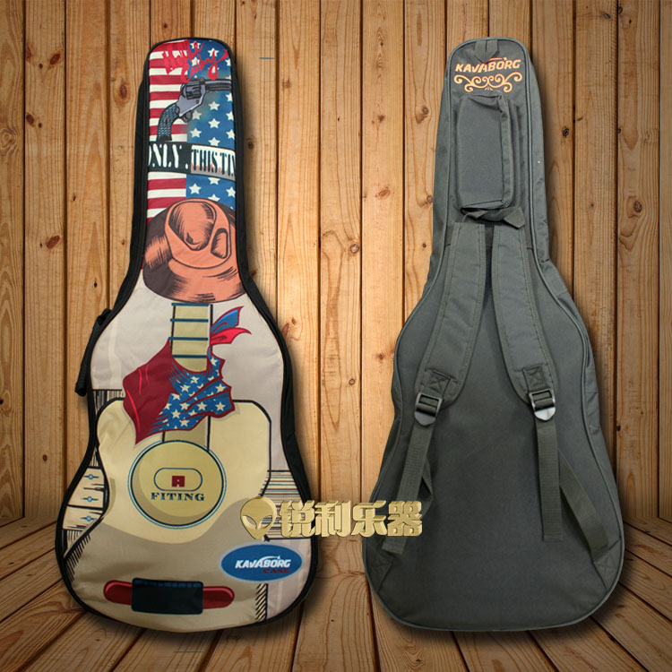 Kawaboge 41 acoustic guitar Pack thickened personalized cool guitar rock cowboy is busy