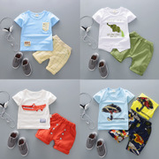 2017 New Kids Baby Infant Boy female clothes children 1-2-3-4-5 years old summer short sleeved suit