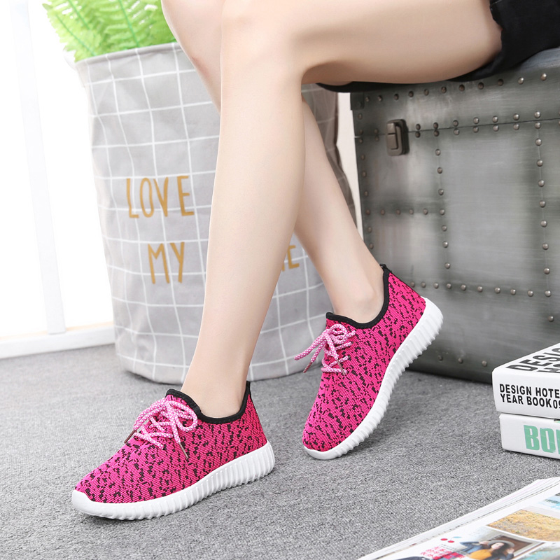 2017 summer new Korean sports shoes women shoes running shoes small white shoes students leisure shoes breathable