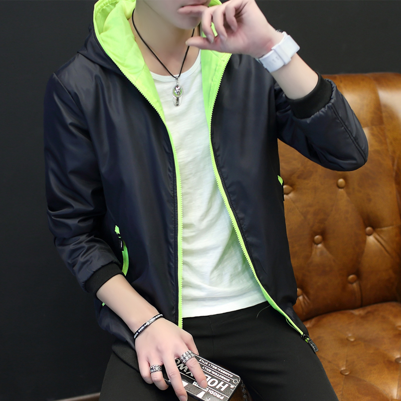 Spring man coat, Korean style loose jacket, wind jacket, spring and autumn fashion student, Japanese clothing man