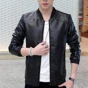 In the spring of 2017 new men's coats s casual leather jacket leather baseball uniform thin male male youth in spring and Autumn