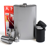 Baishile large capacity of 3 and a half pounds 64 ounces of 304 thick stainless steel flagon outdoor set custom lettering