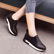 Lok Fu shoes sports shoes 2017 new spring flat increase in thick soled shoes tide lazy.