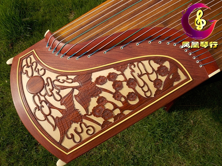 Dunhuang guzheng dq 694 double crane chaoyang Senior mahogany wood playing collection Shanghai folk music a factory quality goods