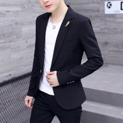 2017 spring and summer, new men's suits, youth Korean version, trend leisure thin coat, self-cultivation small suit, men's clothing