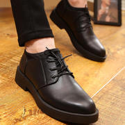 The spring and autumn Korean men's casual shoes leather strap in men's business suits young British wedding shoes tide increased