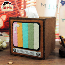 Non-woven from cut retro fabric home paper towel tray pumping of the TV material paper drum tissue box tube