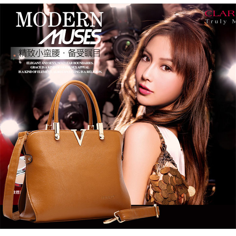 Handbags-fall 2015 oblique cross leather women bag handbag shoulder flashes Europe shell Pack