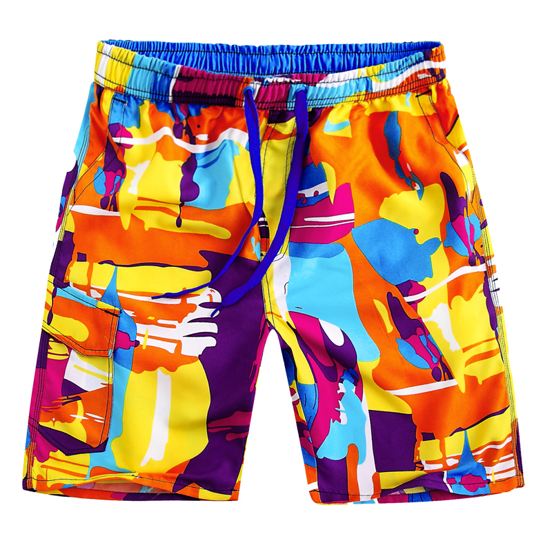 Men leisure sports pants shorts five summer loose size silk big pants running dry beach pants